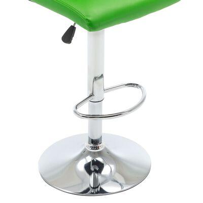 vidaXL Barstol grön konstläder