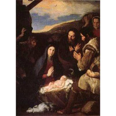 The Adoration of the Shepherds,Jusepe de Ribera,50x40cm