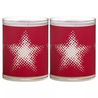 Bolsius Sparkle Lights 6 st Star Red 103622390541