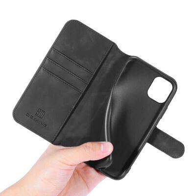 "Dg-ming Mobilplånbok 3-kort Apple Iphone 12 Mini (5.4"")-brun"