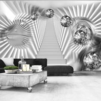 Fototapet - Silver Stairs - 300x210 Cm