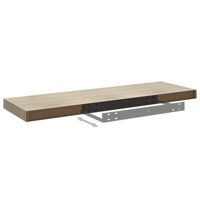 vidaXL Svävande vägghyllor 4 st ek 80x23,5x3,8 cm MDF