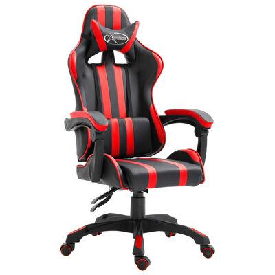 vidaXL Gamingstol röd konstläder
