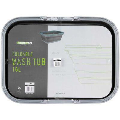 Abbey Camp Hopfällbar tvättbalja 16 L grå 21WM-GRA-Uni