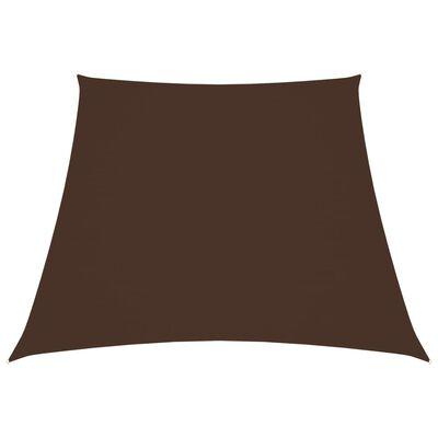 vidaXL Solsegel oxfordtyg trapets 4/5x4 m brun