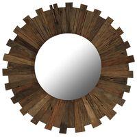 vidaXL Väggspegel massivt återvunnet trä 70 cm