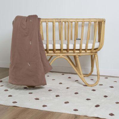 CHILDHOME Kviltad filt 140x100 cm rödbrun