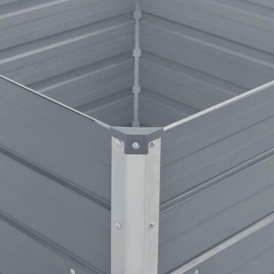 vidaXL Odlingslåda 100x100x77 cm galvaniserad stål grå