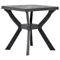 vidaXL Cafébord antracit 70x70x72 cm plast