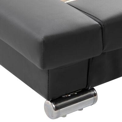vidaXL Sängram konstläder svart 200x120 cm