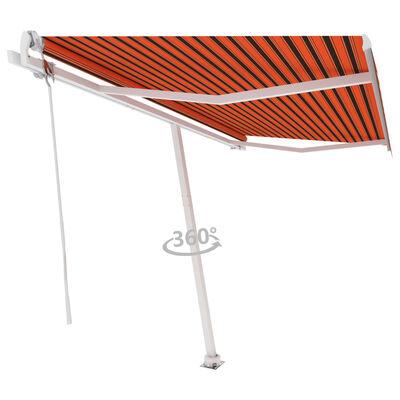 vidaXL Fristående markis automatisk 400x300cm orange/brun