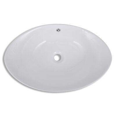 vidaXL Lyxigt ovanpåliggande handfat i keramik 59 x 38,5 cm