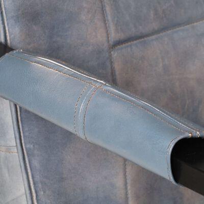 vidaXL Fåtölj 60x80x87 cm grå äkta getskinn