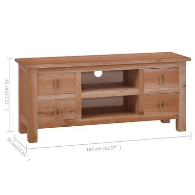 vidaXL TV-bänk 100x30x45 cm massiv mahogny