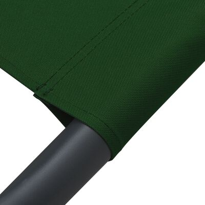 vidaXL Solsäng med tak & kuddar grön