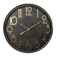 Gifts Amsterdam Väggklocka antik svart och guld 80,5 cm,