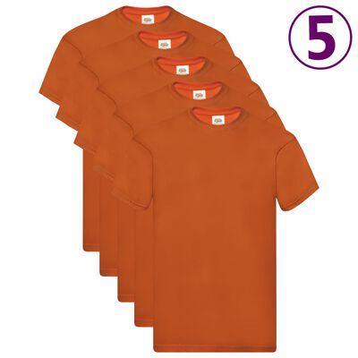 Fruit of the Loom Original T-shirt 5-pack orange stl. 3XL bomull