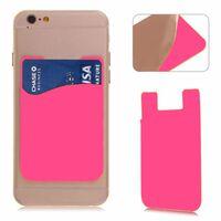 2x Silikonsocka plånbok kort kassettficka klistermärke rosa