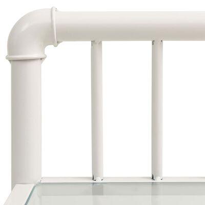 vidaXL Sängbord vit och transparent 45x34,5x62,5 cm metall och glas