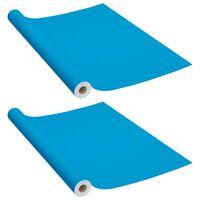 vidaXL Dekorplast 2 st azur 500x90 cm PVC