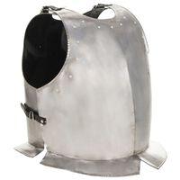 vidaXL Tysk bröst- och ryggharnesk LARP silver stål