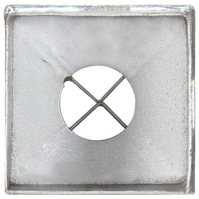 vidaXL Jordspett 6 st silver 8x8x91 cm galvaniserat stål