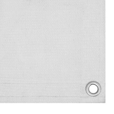 vidaXL Balkongskärm vit 120x500 cm HDPE