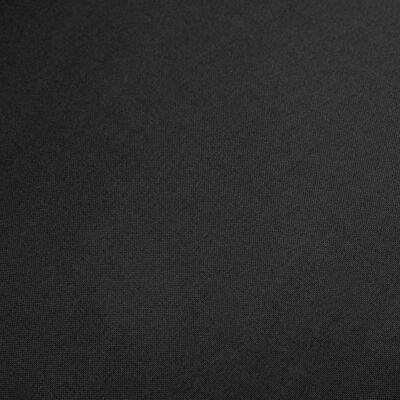 vidaXL Matstolar 6 st svart tyg och massiv ek