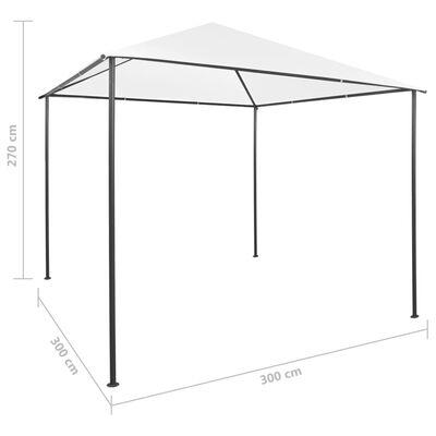 vidaXL Paviljong 3x3x2,7 m vit 180 g/m²