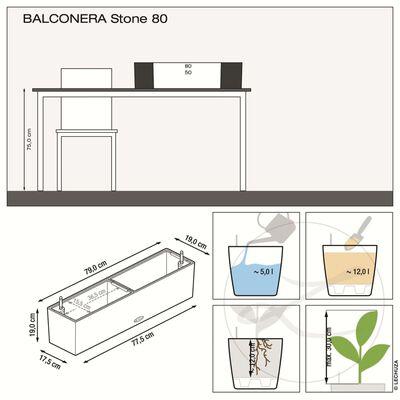 LECHUZA Odlingsenhet BALCONERA Color 80 ALL-IN-ONE svart