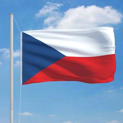 vidaXL Tjeckiens flagga 90x150 cm