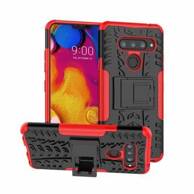 Stöttåligt skal med ställ LG V40 ThinQ (LM-V405) Röd