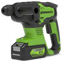 Greenworks 4-i-1 Slagborr borstlös 24 V 2 J