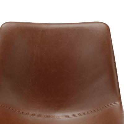 vidaXL Matstol ljusbrun konstläder, Lightbrown