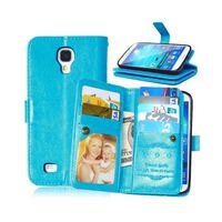 Dubbelflip Flexi 9-kort Samsung Galaxy S4 (GT-i9500) Ljusblå