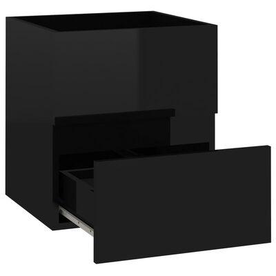 vidaXL Tvättställsskåp svart högglans 41x38,5x45 cm spånskiva