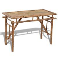vidaXL Hopfällbart trädgårdsbord 120x50x77 cm bambu