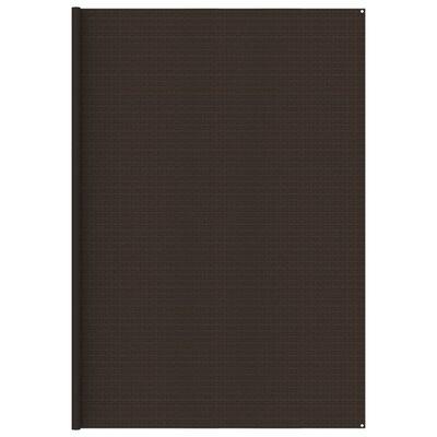 vidaXL Tältmatta 400x500 cm brun