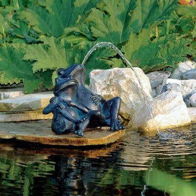 Ubbink Vattensprutande dekoration 2 grodor 22 cm 1386074