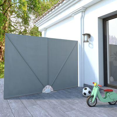 vidaXL Sidomarkis för terrass grå 240x160 cm
