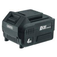 Draper Tools D20 Litiumjonbatteri 4Ah 20V