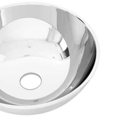 vidaXL Tvättställ 28x10 cm keramik silver