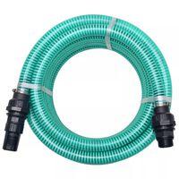 vidaXL Sugslang med koppling 4 m 22 mm grön