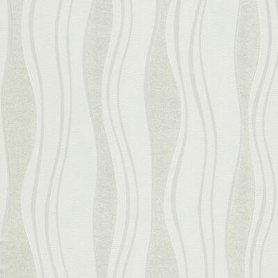 vidaXL Non-woven tapetrullar 2 st vit 0,53x10 m vågor