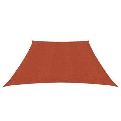 vidaXL Solsegel 160 g/m² terrakotta 3/4x2 m HDPE