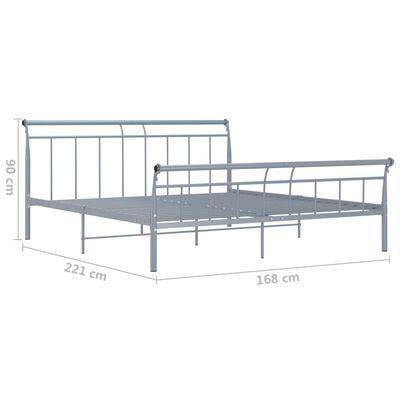 vidaXL Sängram grå metall 160x200 cm