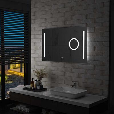 vidaXL Badrumsspegel LED med touch-sensor 100x60 cm