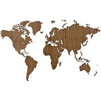 MiMi Innovations Väggdekoration världskarta Exclusive valnöt 130x78 cm