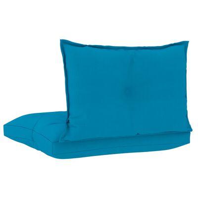 vidaXL Dynor till pallsoffa 2 st blå tyg