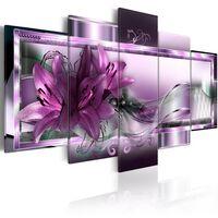Tavla - Purple Lilies - 200x100 Cm